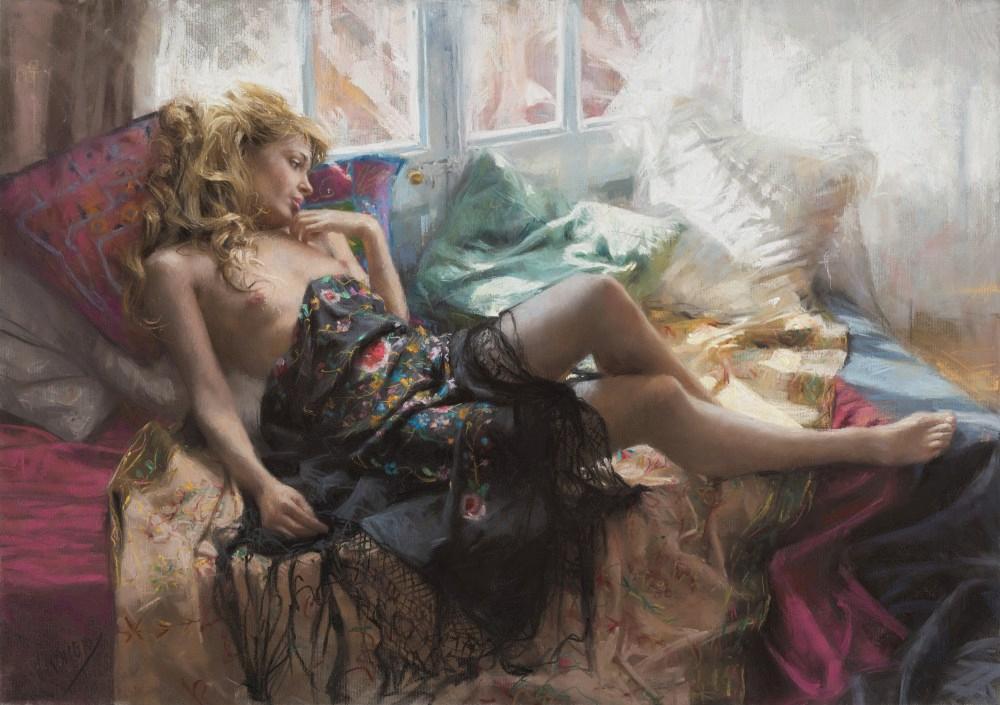 Vicente Romero-Pastel Paintings-1925