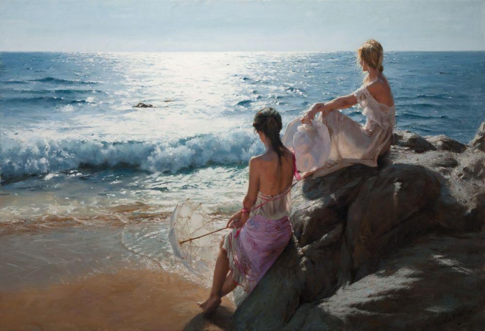 Vicente Romero-Pastel Paintings-1966