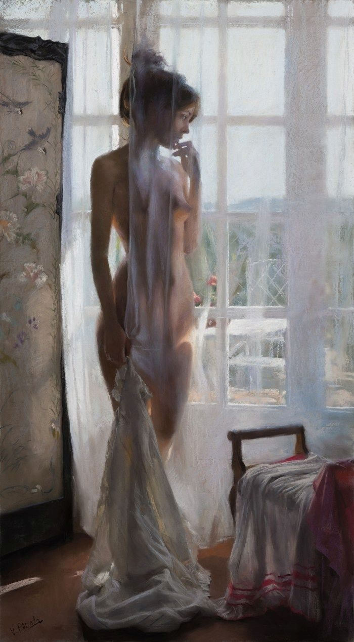 Vicente Romero Paints Beautiful Women In Pastel — Stunningly Graceful And Natural