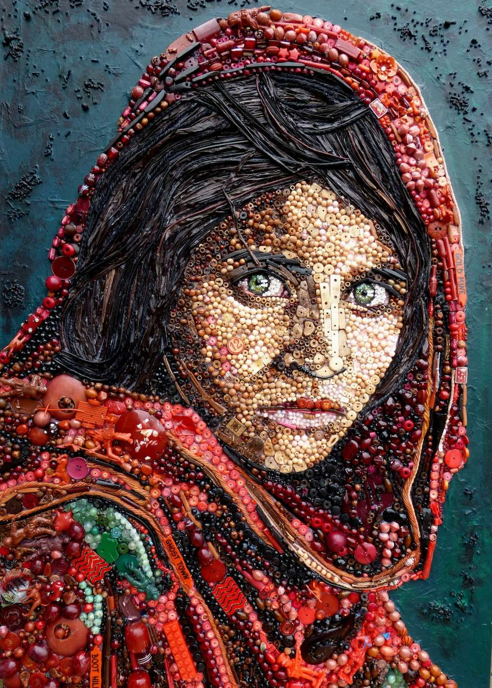 Incredible Portraits Made Of Found Materials By Jane Perkins — Creatively Crafted To Beauty And Perfection