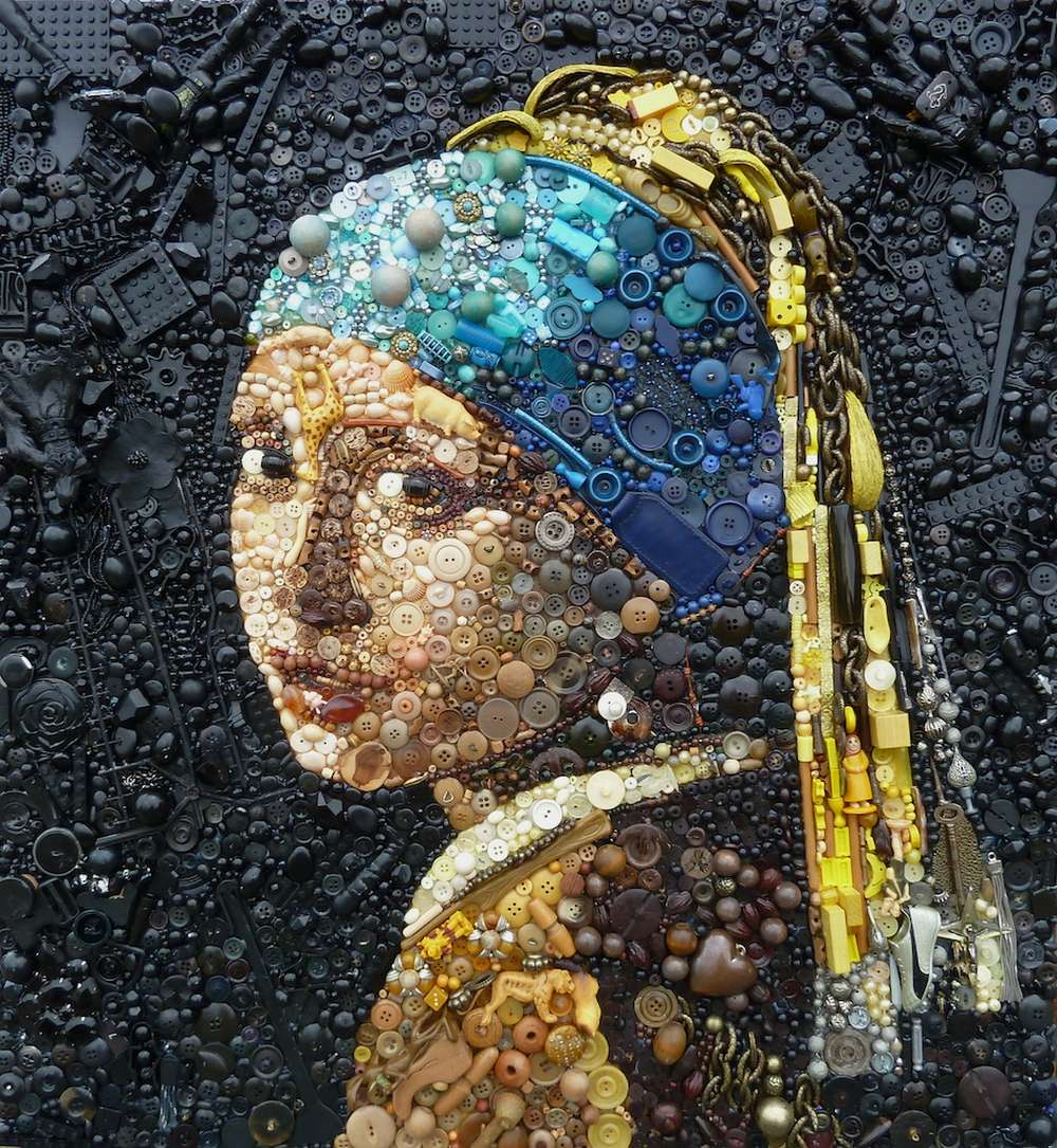 Jane Perkins Art Portrait - Girl with a Pearl Earring