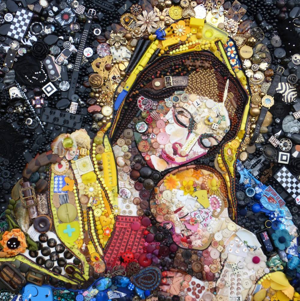 Jane Perkins Art Portrait - Madonna-and-Child