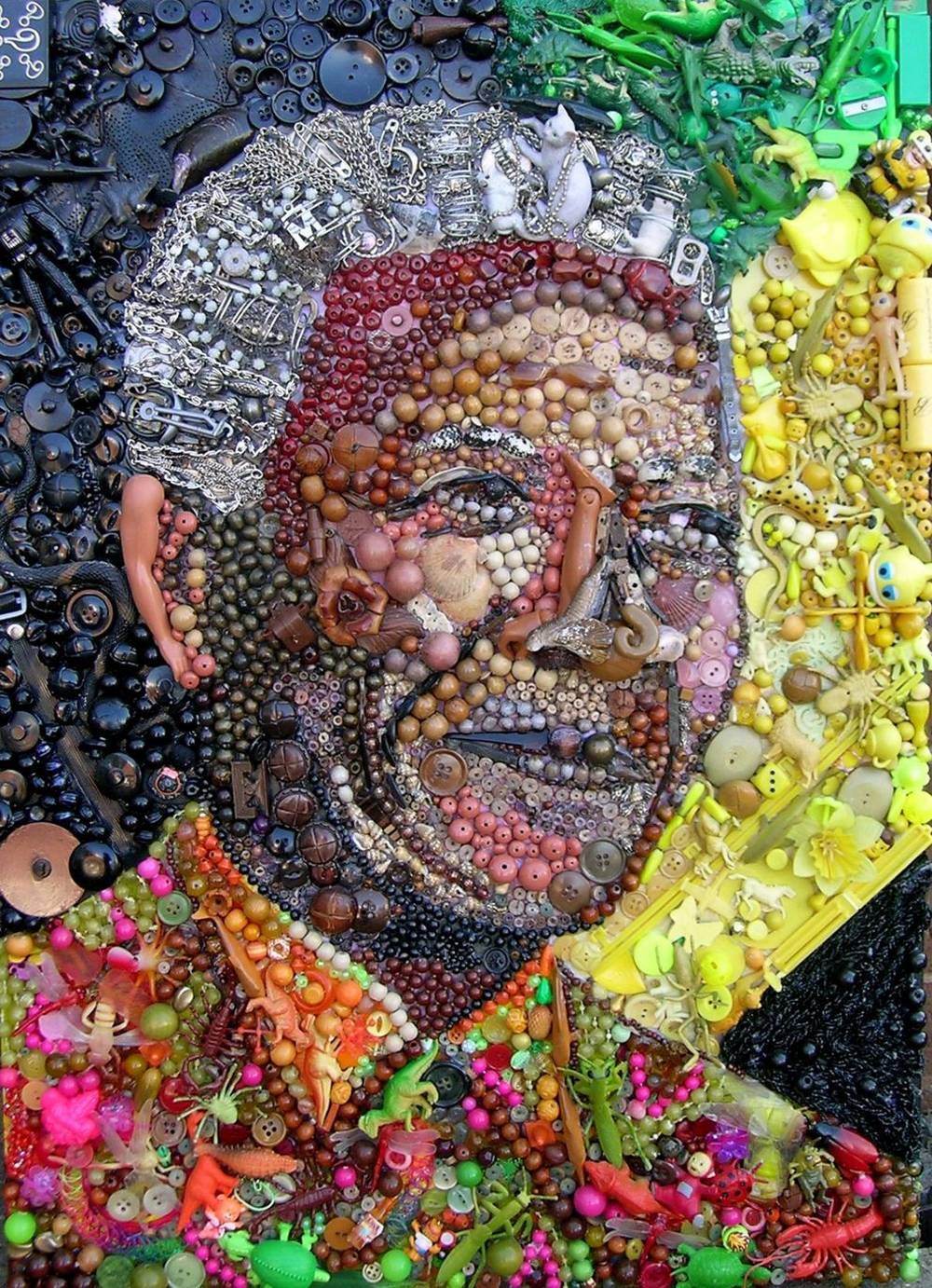 Jane Perkins Art Portrait - Nelson Mandela