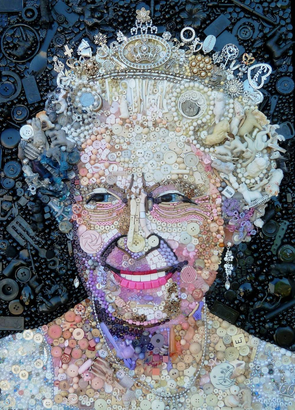 Jane Perkins Art Portrait - Queen Elizabeth